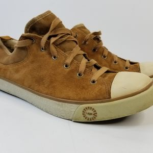 UGG Evera 1888 Tan Suede Leather Sneakers sz12